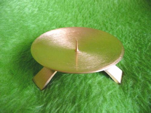 Bougies assiette baptême trépied 9,5cm mattgold
