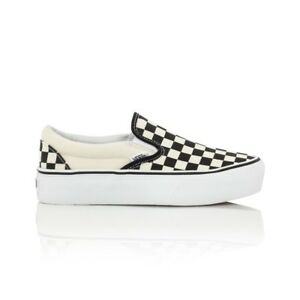 14afe4b64c Vans Classic Slip On Platform Casual Shoes - Womens - Checkerboard ...