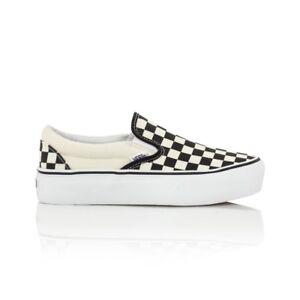 b4d48e979a3175 Vans Classic Slip On Platform Casual Shoes - Womens - Checkerboard ...