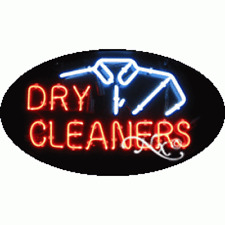 New Dry Cleaners 30x17 Oval Logo Real Neon Sign Withcustom Options 14033