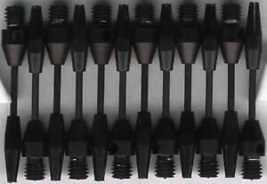 1.5in. 2ba Black Steel Wire Dart Shafts: 3 per set