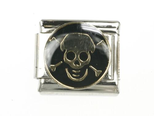 Totenkopf in schwarz Modul Passend für Nomination NEU