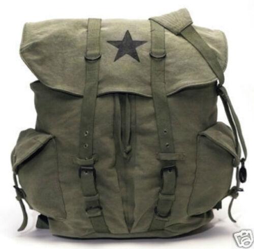 O.D VINTAGE STAR BACKPACK NEW SCHOOL COLLEGE RUCKSACK TRAVEL MILITARY PACK