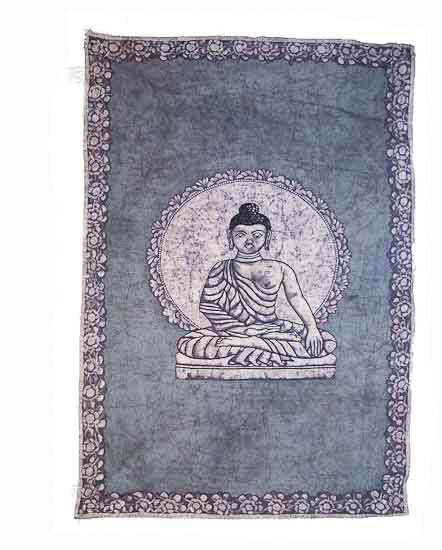 Batik tenture murale couvre lit de bouddha inde 210 x 140 cm peterandclo 3035