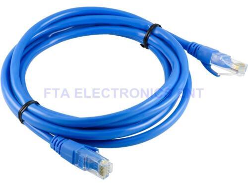 RJ-45 24AWG Cat5 Cat-5e UTP Gigabit Blue Ethernet Lan Network Patch Cable 2M 6FT