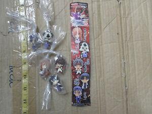 Bandai Rurouni Kenshin chain Strap figure gashapon x5 Sagara Kaoru Aoshi shishio