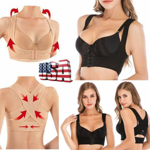 US Body Shaper Women Shoulder Back Posture Corrector Chest Brace Support Belt ##