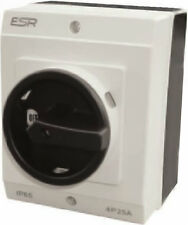ESR Large Electrical Switch Rotary DC Isolator 4 Pole 20A IP65 Enclosure Box
