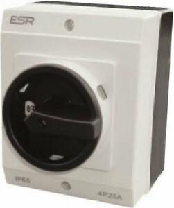 ESR-grand-interrupteur-electrique-rotatif-DC-ISOLANT-4-poles-20A-IP65-Boitier