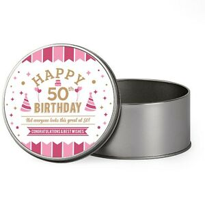 Image Is Loading 50th Birthday Keepsake Novelty Funny Tin Gift Box