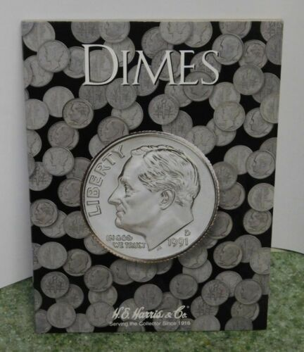 Harris and Co New Folder  #2686 Holds All Types of Dimes Free Shipping