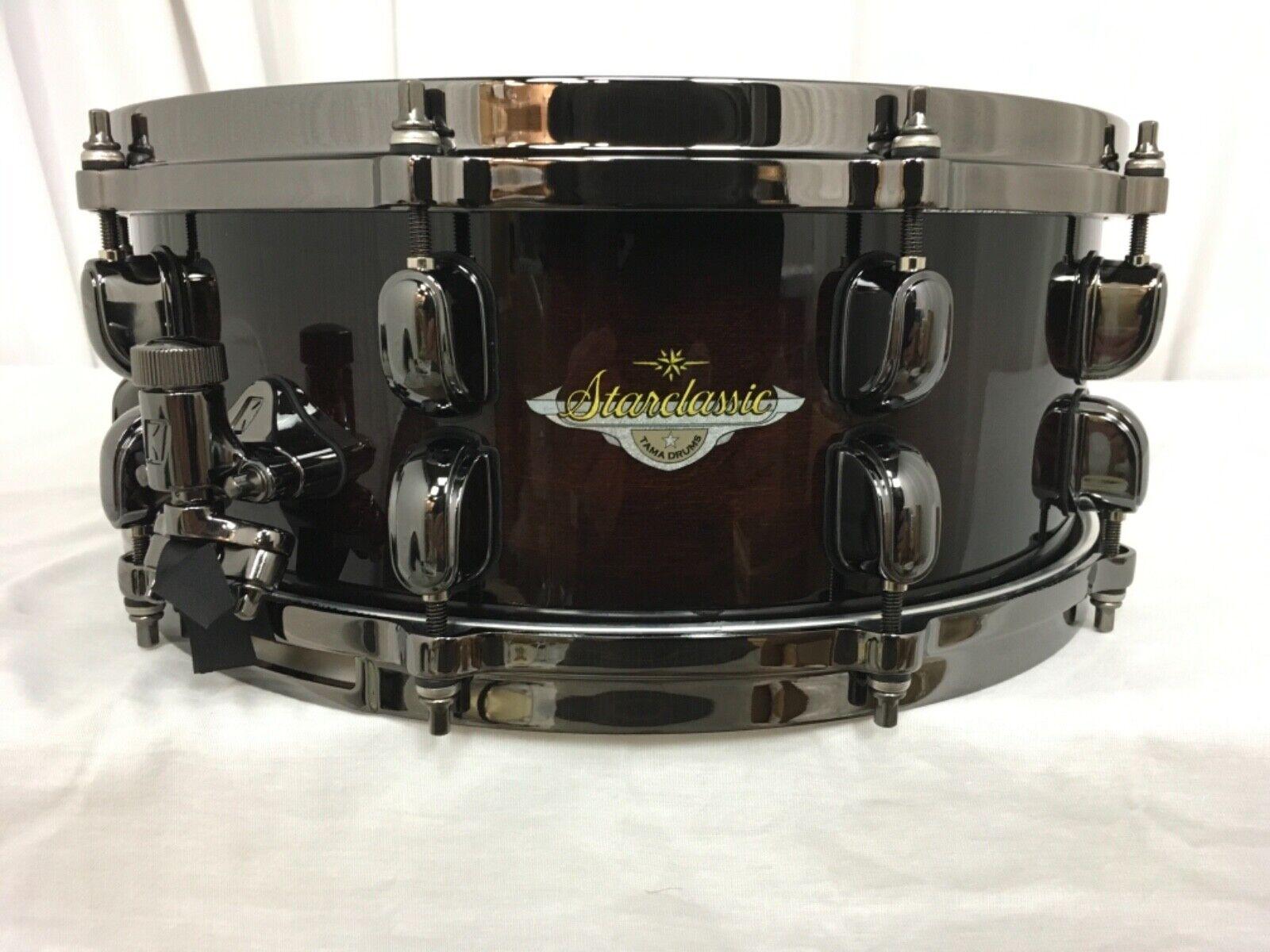 Tama Starclassic Maple 14  X 5.5  Snare Drum Dark Mocha Burst MAS1455BN-DMB NEW