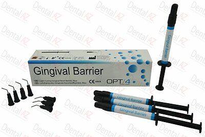 Dental Supply Light Curing Dental Dam, Blue Gingival Barrier Resin, 4 x 1.2mL