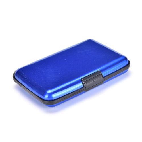 Waterproof Business ID Credit Card Wallet Holder Aluminum Metal Pocket Case JH