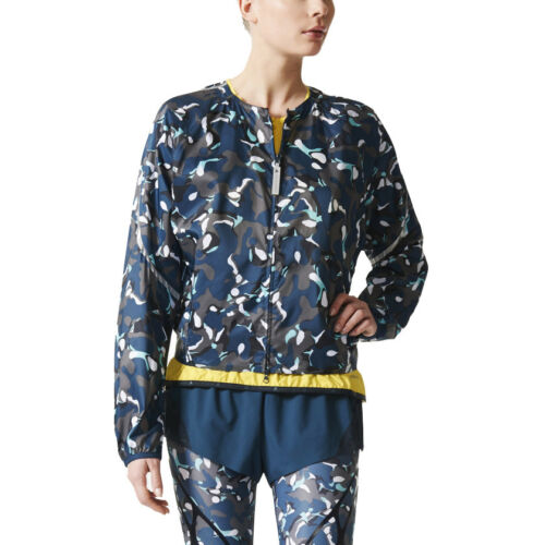 adidas Womens Stella McCartney Run Adizero Jacket Lightweight Bomber Running Top