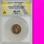 thumbnail 1 - 1957 ANACS MS63 THIN PLANCHET TYPE 1 Pattern or Error Wheat Cent Lincoln RARE 1C