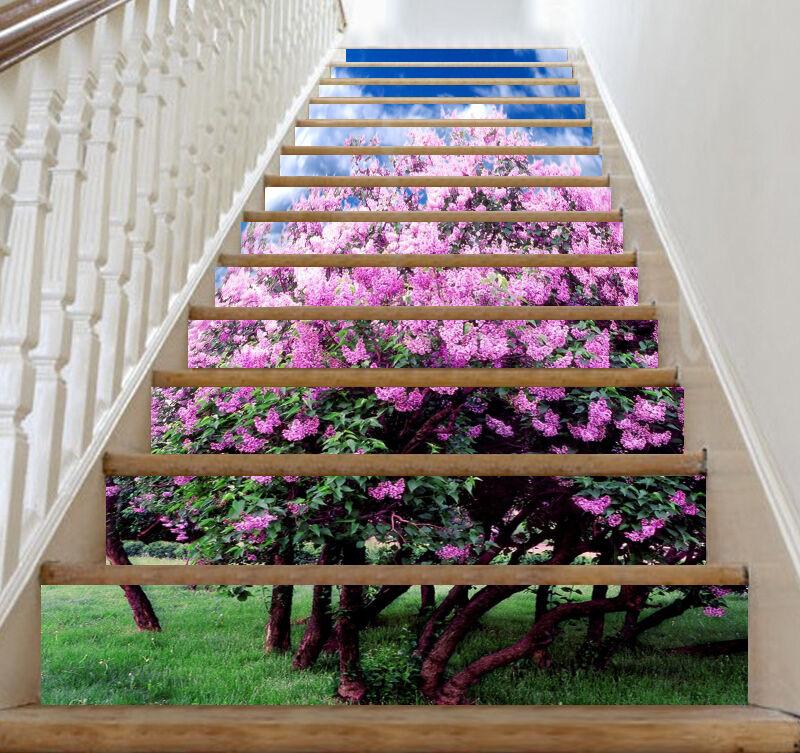3D Floraison Arbre 8 contremarches Décoration Photo Murale Autocollant Vinyle Papier Peint UK