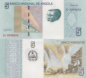 Angola-5-Kwanza-2012-dos-Santos-amp-Neto-Ruacana-Falls-p151A-UNC