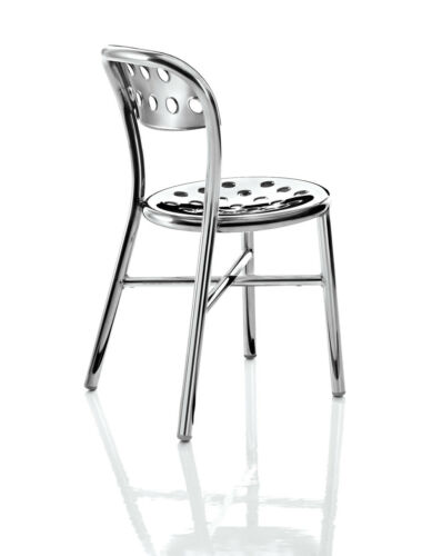 4 x Magis Polished Aluminium Pipe Chairs. RRP - £1857 - save over £900!