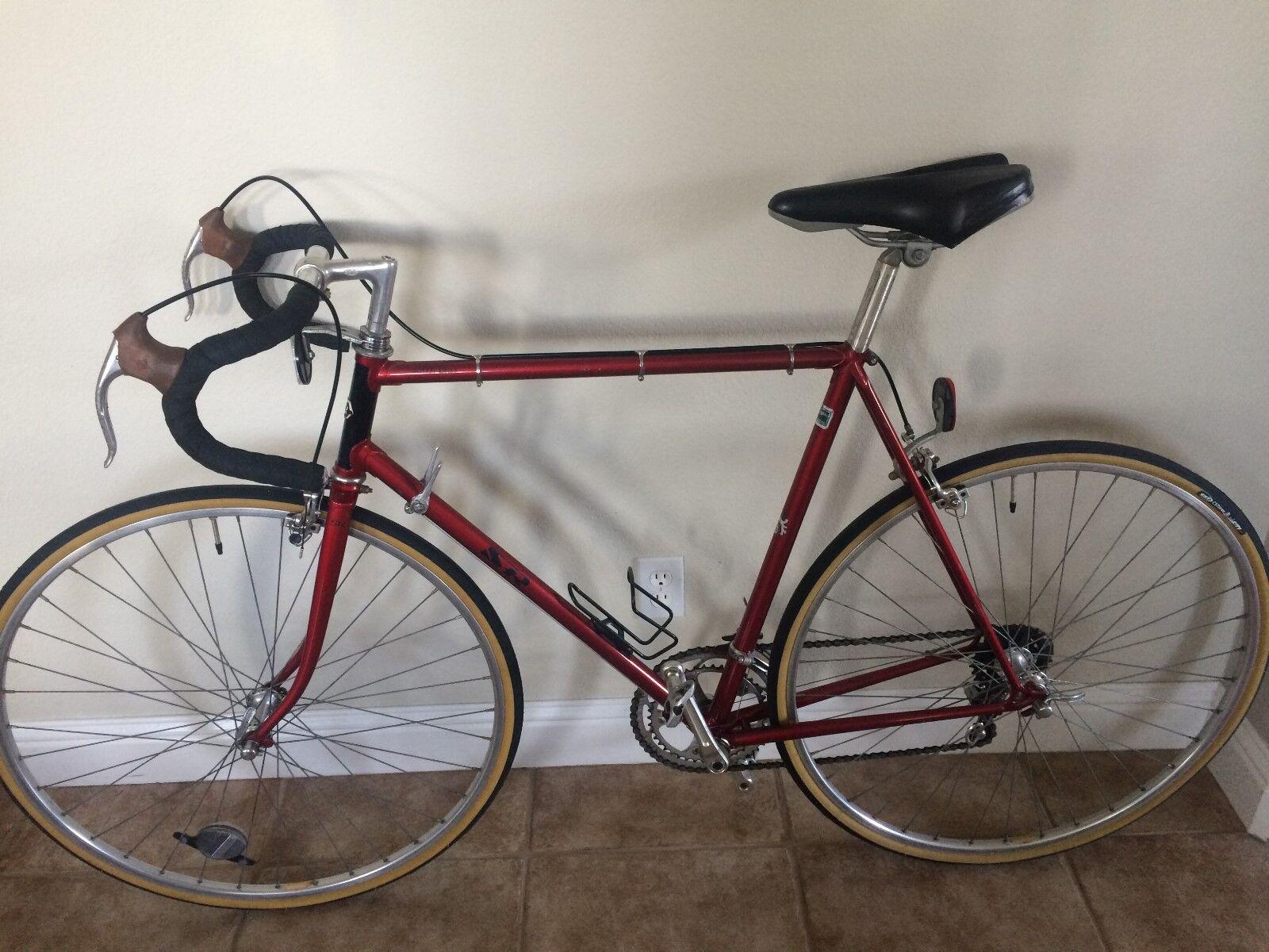 SR Semi Pro 1982 Vintage  Road Bike-Red Steel Frame-Shimano Parts-Original Owner  just buy it