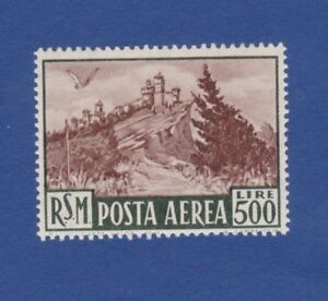 San-Marino-1951-veduta-posta-aerea-MNH-nuovo-gomma-integra-view-airmail