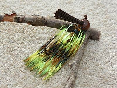 McBASSIN CUSTOM LURES WEEDLESS FINESSE PRO FOOTBALL JIG BLACK /& CHARTREUSE