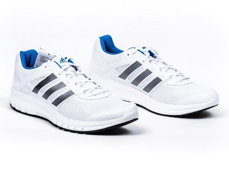MENS ADIDAS DURAMO 6 RUNNING TRAINING ATHLETIC blanc bleu RUNNERS GYM SHOES