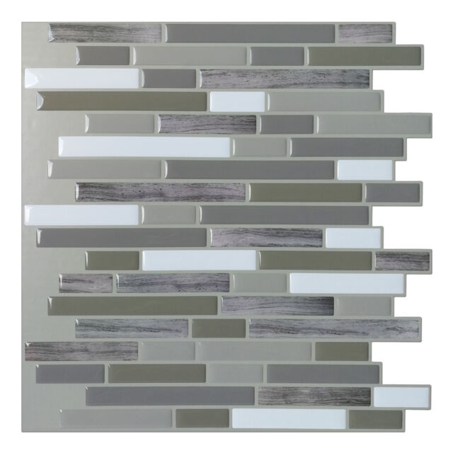 art3d peel and stick wall tile for kitchen bathroom backsplash rh ebay com Stick Tiles On Kitchen Wall Peel and Stick Tiles for Living Room Wall