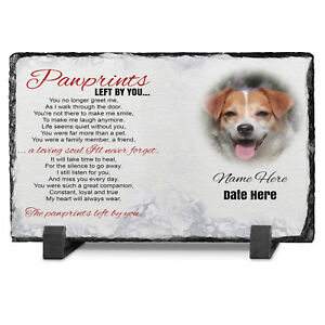 Memorial-Pet-Dog-Photo-Slate-personalised-Pawprint-Poem-Photo-Keepsake-Gift