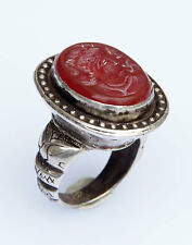 orient Turkmen massiv silber Karneol Siegelring Afghan seal ring Nr:13
