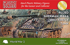 Plastic-Soldier-Company-1-72-Sherman-M4A4-Firefly-Tank-X-3-TANKS-WW2V20015