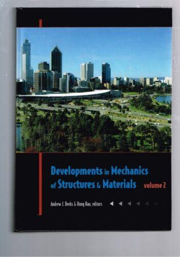 1 of 1 - Developments in Mechanics of Structures & Materials, Deeks & Hao - 2 Volumes HB