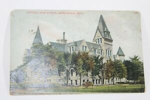 Antique-Vintage-Central-High-School-Minneapolis-MN-Postcard-1907-Collectible