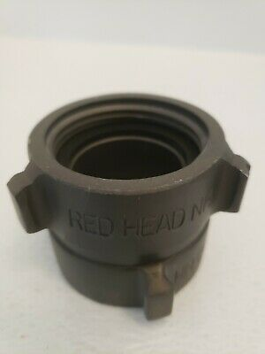"""Red Head 1.5/"""" NH Double Female Fire Hose Adapter 1 1//2/"""""""