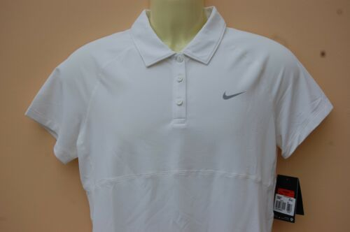 New Nike Women'sTennis Sportswear Ladies White Polo Large + FREE SHIPPING