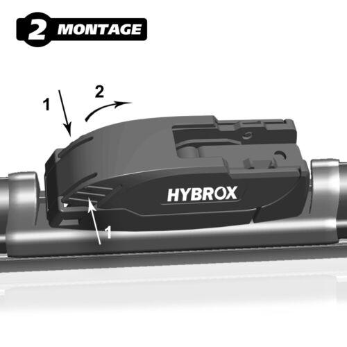 FRONT Scheibenwischerblätter SET HYBROX ULTRA 500500F2
