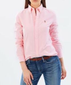 351d3d576 Image is loading Ralph-Lauren-Oxford-Ladies-Slim-Fit-Shirt-Pink-