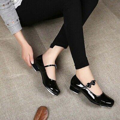 Tap Dance Shoes Adults Children Tap Dance Shoes Comfortable Women Faux Leather