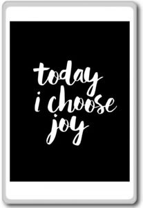 Today I Choose Joy Motivational Inspirational Quotes Fridge Magnet