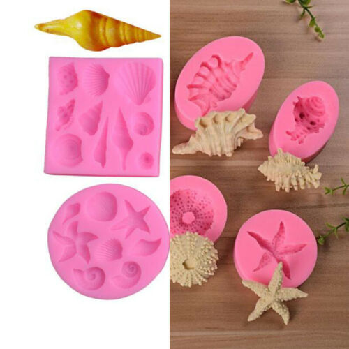 3D Ocean Sea Silicone Mold Fondant Chocolate Candy Cake Decorating Baking Mould