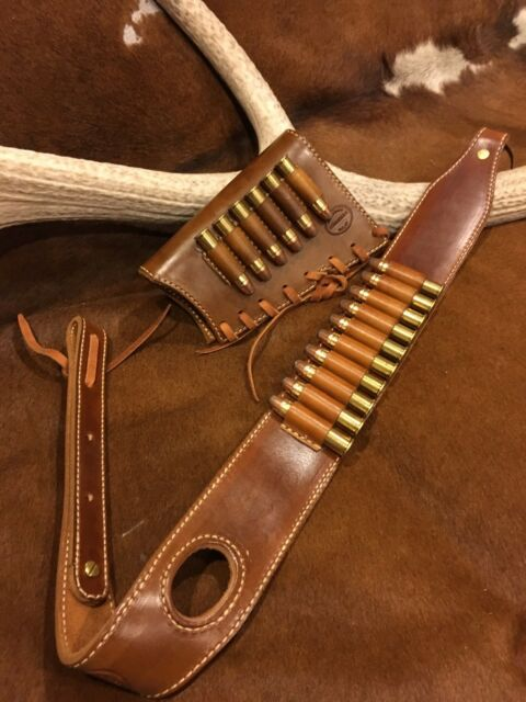 custom leather stock wrap and sling combo made in the usa marlin