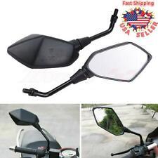 Universal Motorcycle Motorbike Rear View Side Mirror 10mm For Honda Kawasaki BMW