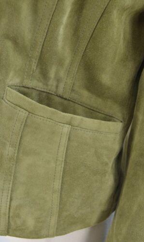 Suede 198 Button Light Olive 2 Taylor Ny Jakke Sz Læder 0 Ann Coat Blazer S EzqfU6wn4