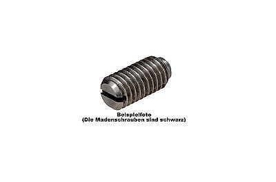 50 Stk.  Madenschrauben schwarz  M2 x 5mm - Nr.M2x5