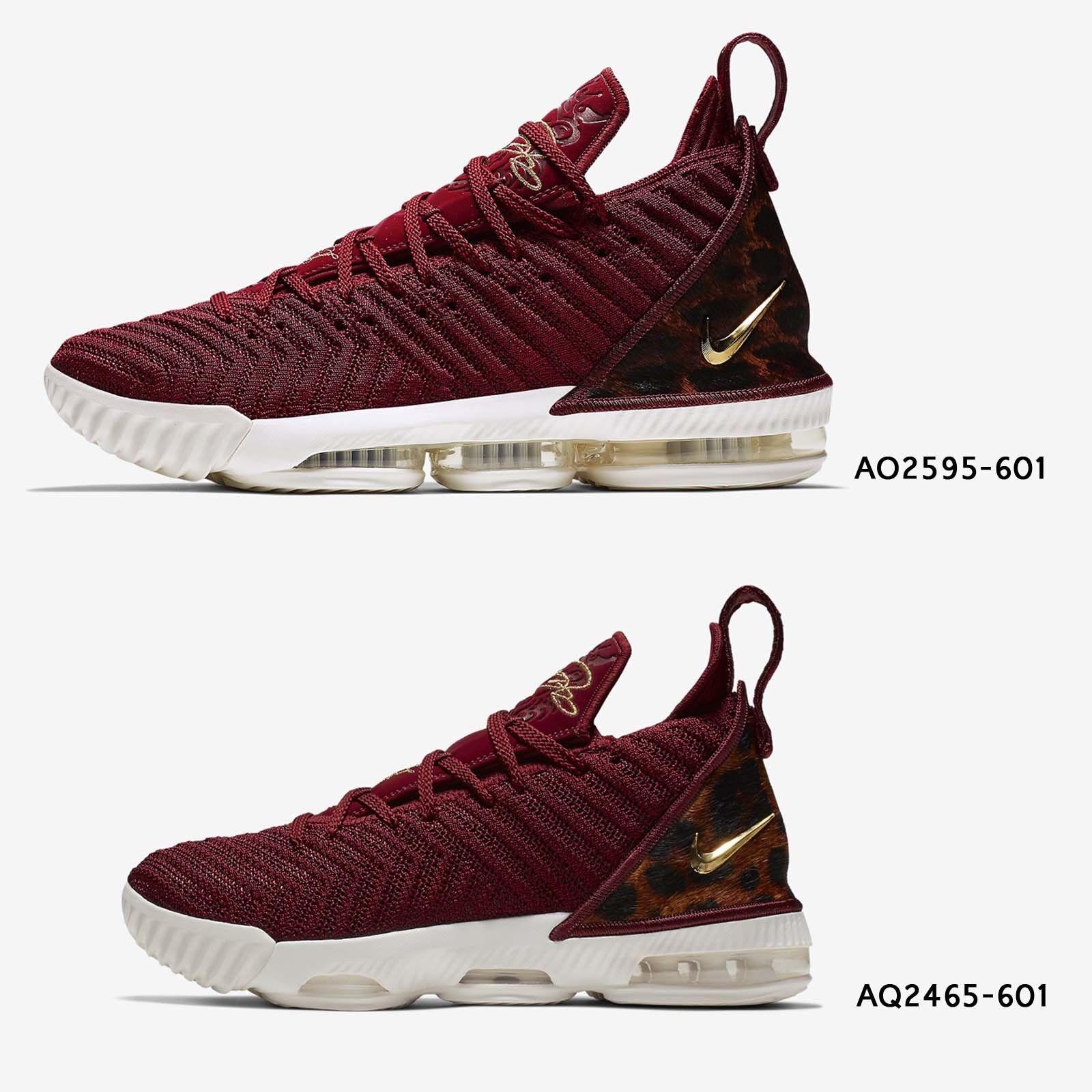 Nike LeBron XVI EP 16 King James Team rosso Leopard Mens donna GS scarpe Pick 1