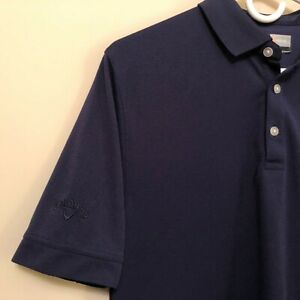 Callaway-Opti-Dri-Navy-Blue-Golf-Polo-S-S-Shirt-Mens-Sz-Small-Masonite-Huttig