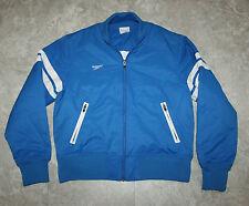 SPEEDO Full Zip Jacket Royal Blue Medium M Cotton Nylon Blend w/ Lining Coat VTG