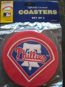 1 - 4 Pack Vinyl Drink Coasters, Philadelphia Phillies