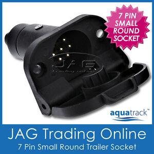 7 PIN SMALL ROUND PLASTIC SOCKET - Caravan/Truck/Boat/Trailer Light Connector