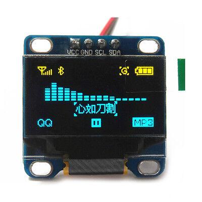 "0.96"" I2C IIC Serial 128X64 OLED LCD Display Module for Arduino Yellow& Blue"